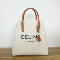 セリーヌ(CELINE) ホリゾンタル キャバス ロゴプリント ハンド トート バッグ 19216 新品