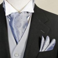 ◆スカーフに共布ポケットチーフの2点セットです◆  ・結婚式 披露宴の新郎用お色直し小物アクセサリー...