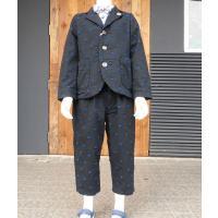 カットジャガード素材がかわいいジャケットとパンツセットカジュアルにも着られて、かわいいです コットン...