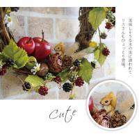 秋に飾りたい木の実リース アートフラワーリース リース 玄関 ウェルカム フェイクグリーン アート ドライ 壁掛け インテリア アレンジ