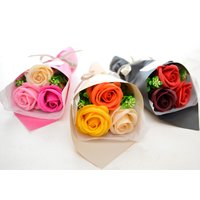 【ソープフラワー】3輪ブーケミニ 花束 プチ ギフト  誕生日 送料無料  フラワー お礼 感謝 アレンジ  ありがとう 母の日 父の日