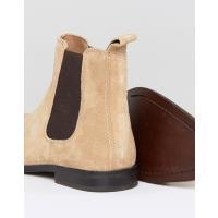 エイソス メンズ ブーツ・レインブーツ シューズ ASOS Wide Fit Chelsea Boots in Stone Suede