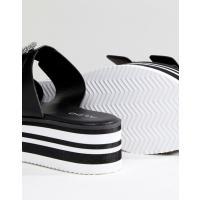 アルド レディース サンダル シューズ ALDO Flatform Two Part Slip on Shoe with Embellished Buckle Detail
