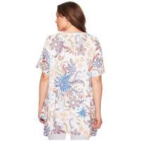 ナリーアンドミリー レディース シャツ トップス Plus Size Floral Print Tunic