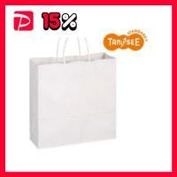 【商品名】(まとめ)TANOSEE 手提袋 丸紐 白無地・中 50枚入×6パック