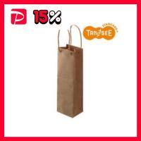 【商品名】(まとめ)TANOSEE 手提袋 丸紐 茶無地・ワインボトル用 30枚入×10パック