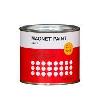 塗装面にマグネットがくっつくペンキ「MAGNET PAINT」 ペンキ独特の臭いや、塗装時の跳ね返り...