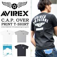 AVIREX(アヴィレックス) S/S C.A.P. OVER PRINT CREW NECK TE...