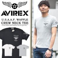 AVIREX(アヴィレックス) S/S USAAF WAFFLE CREW NECK TEE  吸水...
