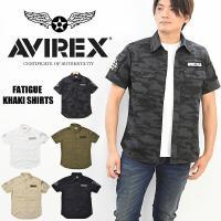 AVIREX(アヴィレックス) S/S FATIGUE KHAKI SHIRTS  しっかりとしたコ...