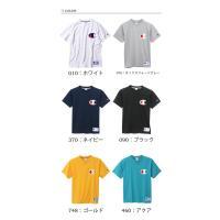 チャンピオン/Champion ビッグロゴ刺繍 半袖Tシャツ 無地 アメカジ デカロゴ メンズ レディース ビッグC ビックロゴ 半T カットソー ユニセックス C3-F362