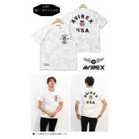 AVIREX アビレックス シグネチャー ヴァーシティー 半袖Tシャツ ワッペン アップリケ 定番 クルーネック メンズ 送料無料 6163363