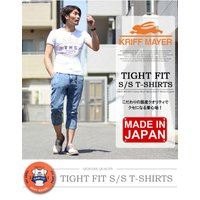 KRIFF MAYER クリフメイヤー タイトフィット 半袖Tシャツ sunday 日本製 プリントTシャツ メンズ 1759900