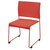 【商品説明】 背と座面がPP樹脂製で汚れてもお手入れしやすいミーティングチェア。スチールのループ脚で...