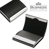 【送料無料】 かっこいいレザーの2つ折りカードケース・名刺入れ  流線型のオシャレでシンプルなカード...