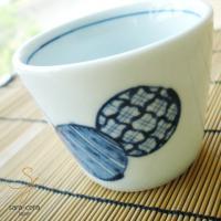 なつ藍丸紋 そばちょこカップです。和風にぴったり。 シリーズでいかがですか?!