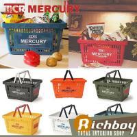 アメリカン雑貨の定番「MERCURY」のバスケットです。MCRのロゴがかっこいい!  ランドリーボッ...