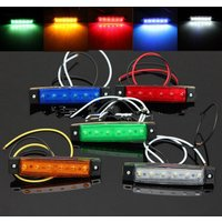 LEDサイドマーカー 12V 角形 片側6連 汎用 (10個) 入数:1セット(10個) 簡単取り付...