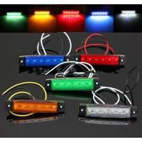 LEDサイドマーカー 12V 角形 片側6連 汎用 (2個) 入数:1セット(2個) 簡単取り付けで...