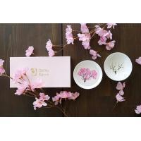 【ランキング1位】(あすつく)(3セット~送料無料)温度で楽しむ・丸モ高木陶器・桜が満開冷感桜 白平盃ペアセット  旬 SHUN JAPAN 母の日 父の日 結婚祝いお中元