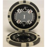 【商品名】Quattro Assi(クアトロ・アッシー)ポーカーチップ(1)白 <25枚セット>  ...
