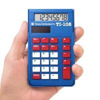 レビューで送料無料!! Texas Instruments 【テキサス インスツルメンツ】8桁 ポケット電卓 TI-108