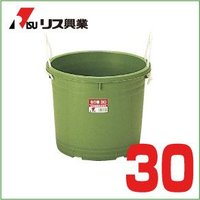 練り樽 30 グリーン  サイズ: 横420×奥行420×高さ327(mm) 材 質: LLDPE ...