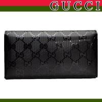 グッチ/GUCCI 二つ折り長財布 グッチから長財布の入荷!艶やかに美しく仕上げられた表面は、角度に...