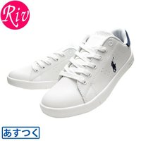 Polo Ralph Lauren [ 靴 ] スニーカー 合成皮革を使用したローカットスニーカーで...