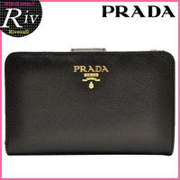 PRADA/プラダ  セレブに人気のプラダ!人気の定番デザインに、上質なレザー素材を使用したお財布。...