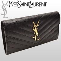 サンローラン パリ 長財布 キャビアスキン サンローランからキルティングステッチの上品な長財布が入荷...