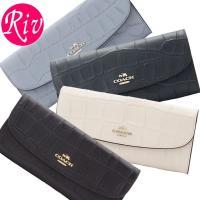 COACH   サイフ   財布 スリムタイプの二つ折り長財布です。レザーの良さを最大限に活かしたシ...