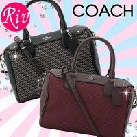 COACH  カバン コーチ 鞄 丸みを帯びたデザインのボストン型がとってもキュートな2Wayハンド...
