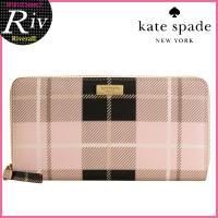 多くの女性から支持されているケイトスペード!格子柄チェックパターンラウンドファスナー財布が入荷。  ...