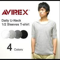 アヴィレックスの中でも非常に人気の高い無地Tシャツシリーズより、デイリーUネック5分袖Tシャツのご紹...