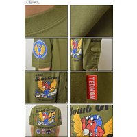 TEDMAN'S(テッドマン) 463th Bomb Group ミリタリー プリントTシャツ メンズ 半袖Tシャツ 空軍 エアフォース バックプリント エフ商会 TED COMPANY TDSS-416