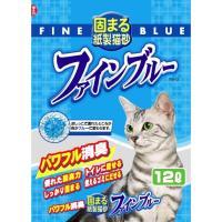 常陸化工 固まる紙製猫砂 ファインブルー 猫用 12Lx5入