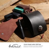 【Walnut.】レザーアイコスケース/IQOS CASE-001-B  牛革を使用した収納力抜群で...