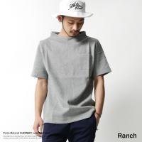 "【Ranch/ランチ】ポンチ素材ガンジーネック半袖Tシャツ/RA17-037  遊び心ある""デザイン..."