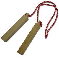 人形劇や歌舞伎、楽器としても使用される拍子木です。 火の用心の必需品。 ※箱等の付属品はありません。...