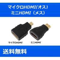 micro mini HDMIケーブル 変換アダプタ [HDMI(メス)/マイクロHDMI(オス)]...