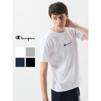 CHAMPION チャンピオン Tシャツ レディース メンズ ユニセックス 半袖 刺繍 ブランド 綿100% 日本規格 リバースウィーブ C3-M304 父の日 プレゼント