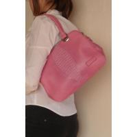 在庫限り激安セール!! ピンク色の手提げトートバッグ♪  バッグ外両側人魚姫型としたおしゃれポイント...