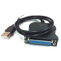 USBポートを持つパソコンとUSBポートの無いプリンタ (D-Sub25pinの機種)を接続します ...