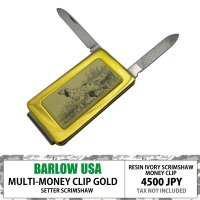 BARLOW MONEYCLIP w/ KNIFE AND FILE GOLD SETTER  19...