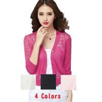 ◆レース編みが上品な大人きれいめサマーカーディガン4色・3サイズです♪ ◆オフィースなどの冷房対策・...