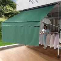 ■窓からの強い日差しや直射日光を防いでくれる、オシャレなオーニングです。 ■UV加工を施したポリエス...