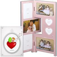 幸せな写真を沢山飾れる多面フォトフレームはとっても嬉しいプレゼント!ピュアピンクにキラキラのクリスタ...