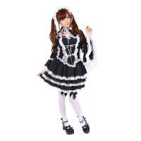 ■商品について 黒×白フリルのゴスロリセットアップ。 大きな付け襟とヘッドドレスが付いた4点セット。...