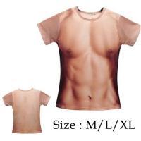 男の裸 マッチョ Tシャツ おもしろい 筋肉シャツ パーティ イベント コスプレ ハロウィン グッズ R1092-JH